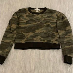Camo Crop Top Sweater